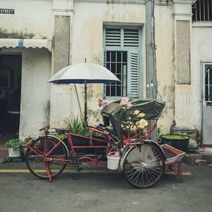 maleisie-penang-georgetown-fiets-geparkeert