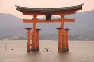Kajakken naar de Itsukushima shrine