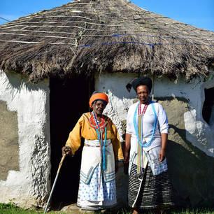 Xhosa vrouwen in de omgeving van de Wildcoast in Zuid-Afrika