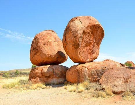 Australie-Devils-Marbles-rode-rotsen