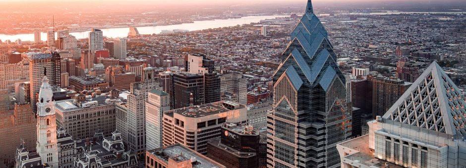 Amerika-Philadelphia-Helikopterview