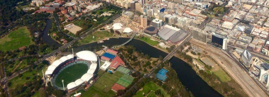 Australie-Adelaide-luchtfoto