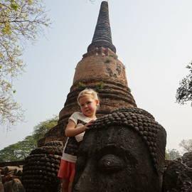 Kleuter in Ayutthaya, Thailand