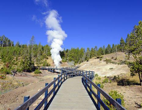 Amerika-Yellowstone-Geisers