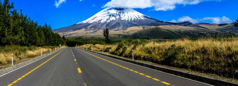 Actieve vulkaan in Cotopaxi