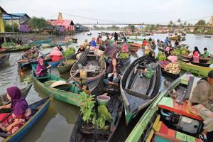 Indonesie-Kalimantan-Drijvende-Markt