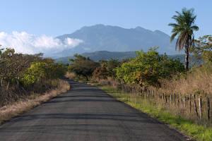 Uitzicht op de Baru Vulkaan vanaf de weg - Panama