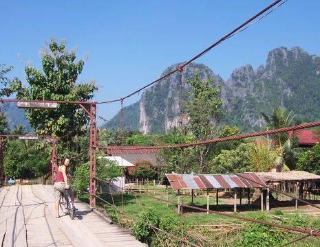 De fietsexcursie in Vang Vieng is erg bijzonder, Laos