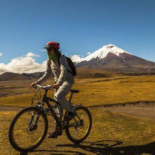 Mountainbiken in de omgeving van Cotopaxi