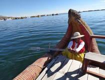 Kanotocht op het Titicacameer