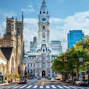 Amerika-Philadelphia-Straatbeeld