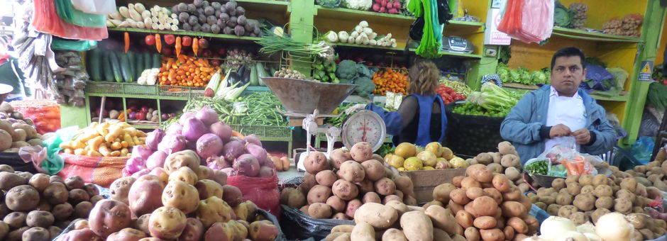 Lokale markt in Lima - Peru