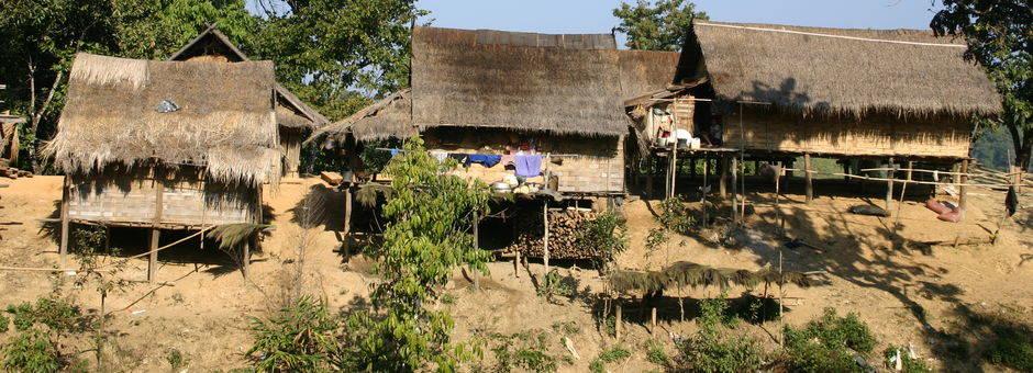 Muang Sing huisjes in Laos