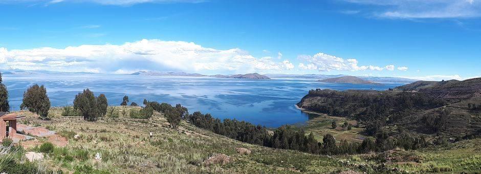 De route van La Paz naar Copacabana - Bolivia