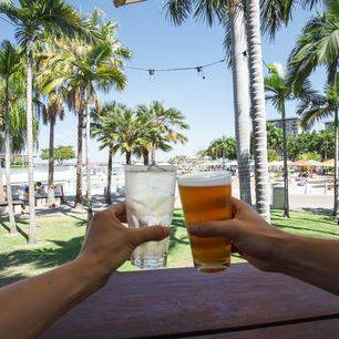 Australie-Darwin-strand-drankjes