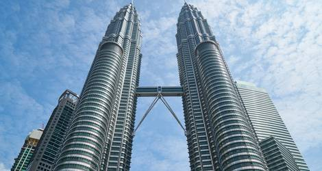 De beroemde Twin Towers in Kuala Lumpur