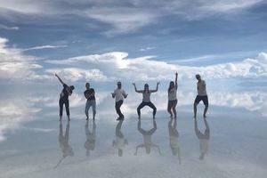 De zoutvlakte van Bolivia