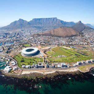Een mooie overzichtsfoto van Kaapstad in Zuid-Afrika