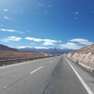 Chili-Ruta-Lauca-National-Park-verlaten-weg