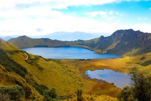 Kratermeren Mojanda en mountaintrekking