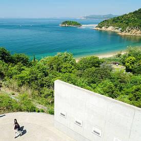 Benesse House Museum uitzicht over zee