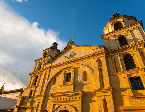 Colombia-Bogota-Iglesia-de-la-candelaria-kerk