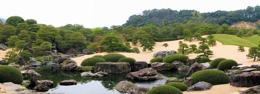 De tuin bij Adachi museum