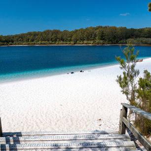 Australie-Fraser-Island-Lake-McKenzie-trap-strand