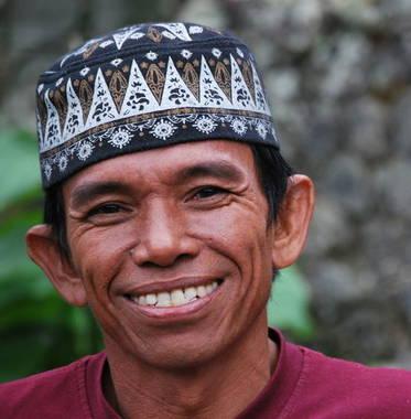 Een glimlach van een Javaan