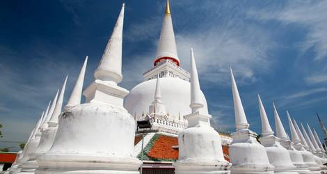 De tempel van Nakhon Si Thammarat in Thailand