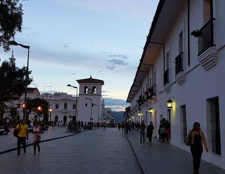 Colombia-Popayan-straat-witte-stad