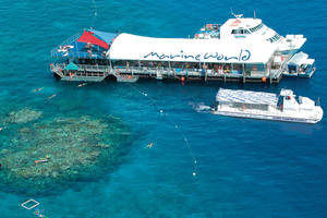 Marine World Ponton in het Great Barrier Reef