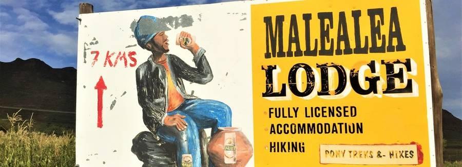 Bord van Malealea Lodge