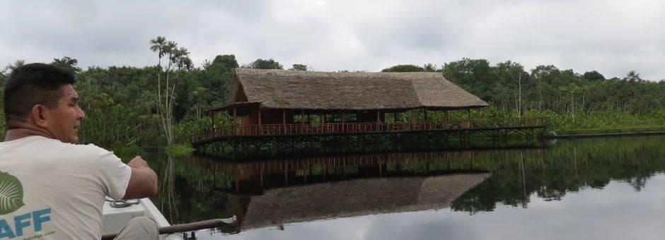 Aankomst bij Sacha Lodge in Coca