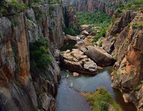 Bourke Luck Potholes langs de panoramaroute, Zuid-Afrika