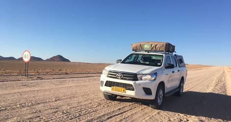 Afrika-Namibie-Daktent-Auto