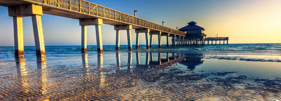 Amerika-Florida-Fort-Myers-Zonsondergang