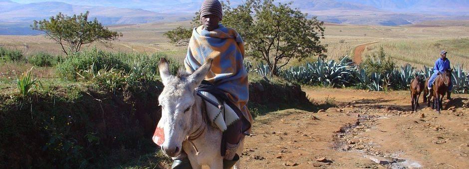 Lesotho-Malelealea-Paardrijden