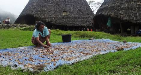 Indonesie-Flores-Wae-Rebo-vrouw