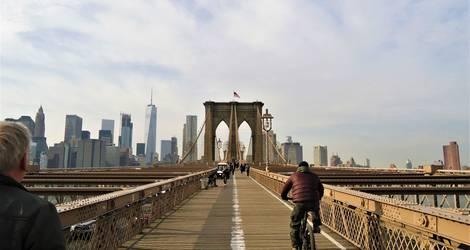 Amerika-Brooklyn-Bridge-fiets