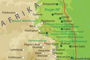 Kaart van Zuid-Afrika noord