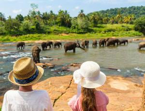 Sri-Lanka-overal-kinderen-kijken-olifanten(2)