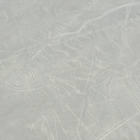 Nazca-lijnen vanuit het vliegtuig