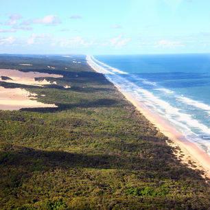 Australie-Fraser-Island-kustlijn