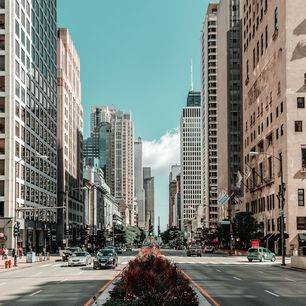 Amerika-Chicago-Straatbeeld