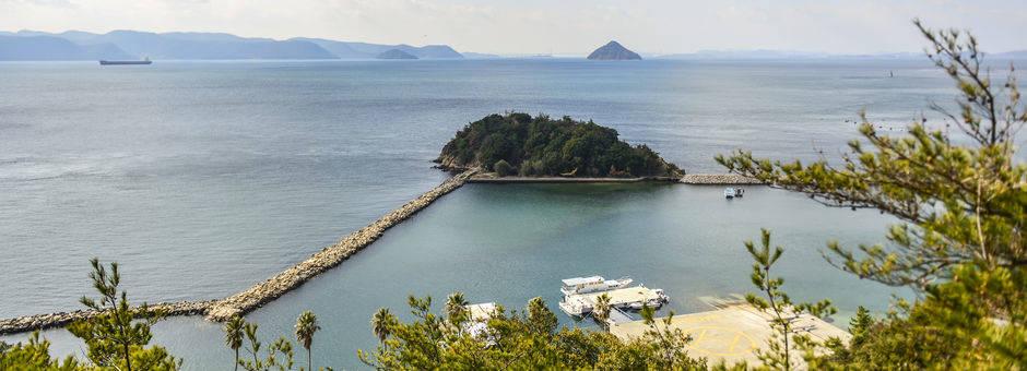 Het eiland Naoshima voor de kust van Okayama- Japan