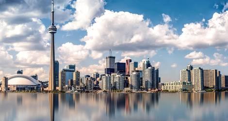 De skyline van Toronto, Canada