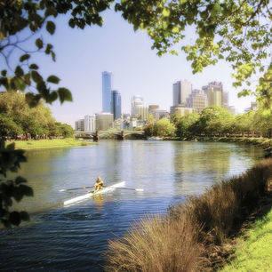 Australie-Melbourne-Yarra-rivier