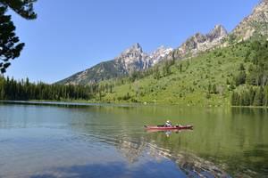 Amerika-Grand-Teton-Kanovaren