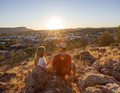Australie-Alice-Springs-zonsondergang